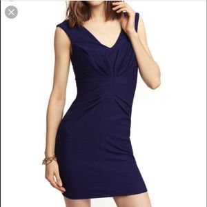 Express Navy Ruched Dress
